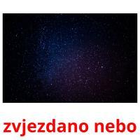 zvjezdano nebo picture flashcards