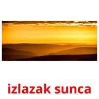 izlazak sunca picture flashcards