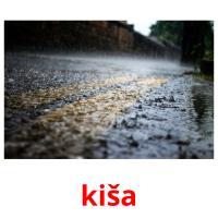 kiša picture flashcards