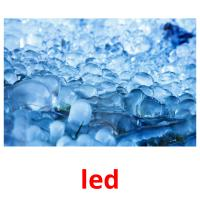 led picture flashcards