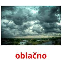 oblačno picture flashcards