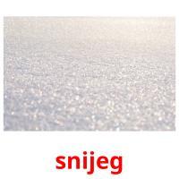 snijeg picture flashcards