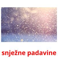 snježne padavine picture flashcards