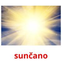 sunčano picture flashcards