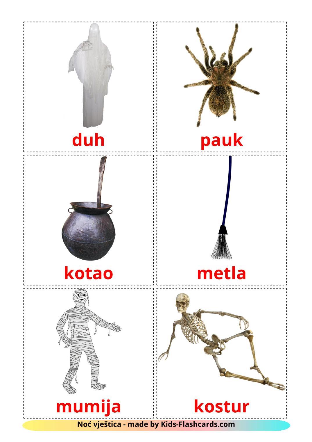 Halloween - 16 Free Printable croatian Flashcards
