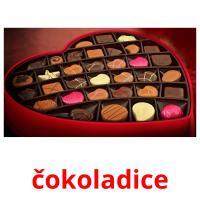 čokoladice picture flashcards