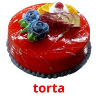 torta picture flashcards