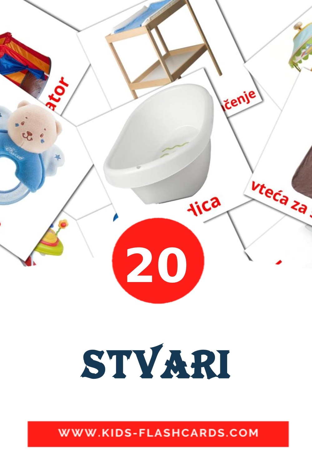 20 Stvari Picture Cards for Kindergarden in croatian