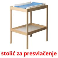stolić za presvlačenje picture flashcards