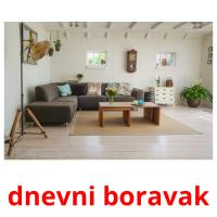 dnevni boravak picture flashcards