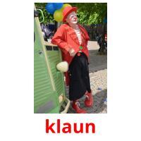 klaun picture flashcards