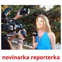 novinarka reporterka picture flashcards
