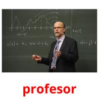 profesor picture flashcards