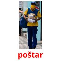 poštar picture flashcards