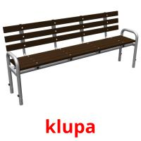 klupa picture flashcards
