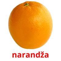 narandža picture flashcards