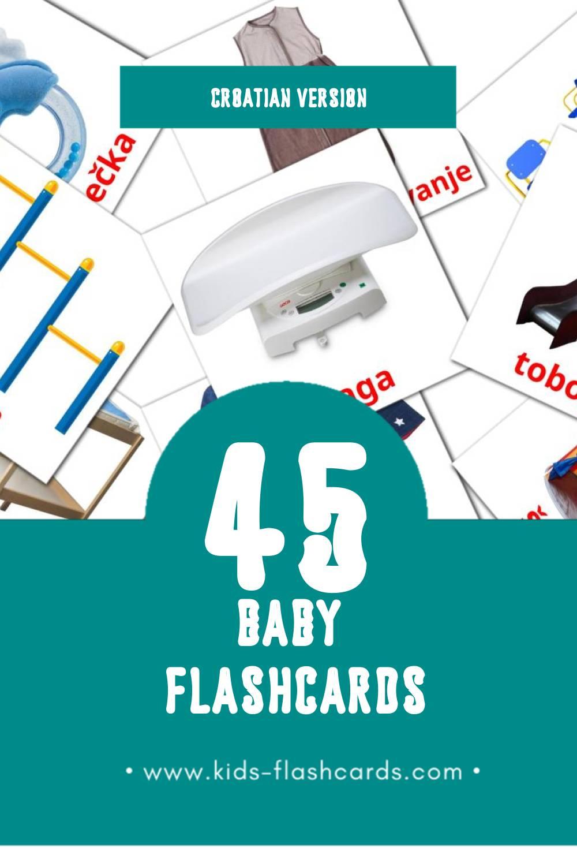 Visual beba Flashcards for Toddlers (45 cards in Croatian)