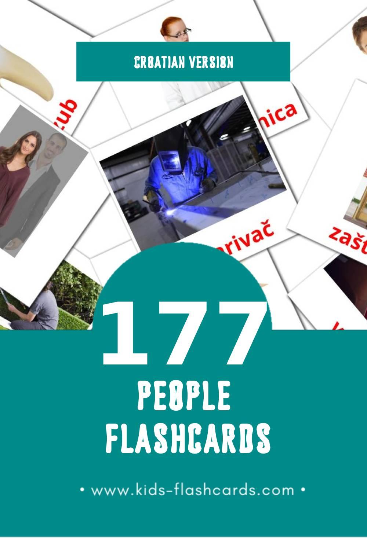 Visual LJUDI Flashcards for Toddlers (126 cards in Croatian)