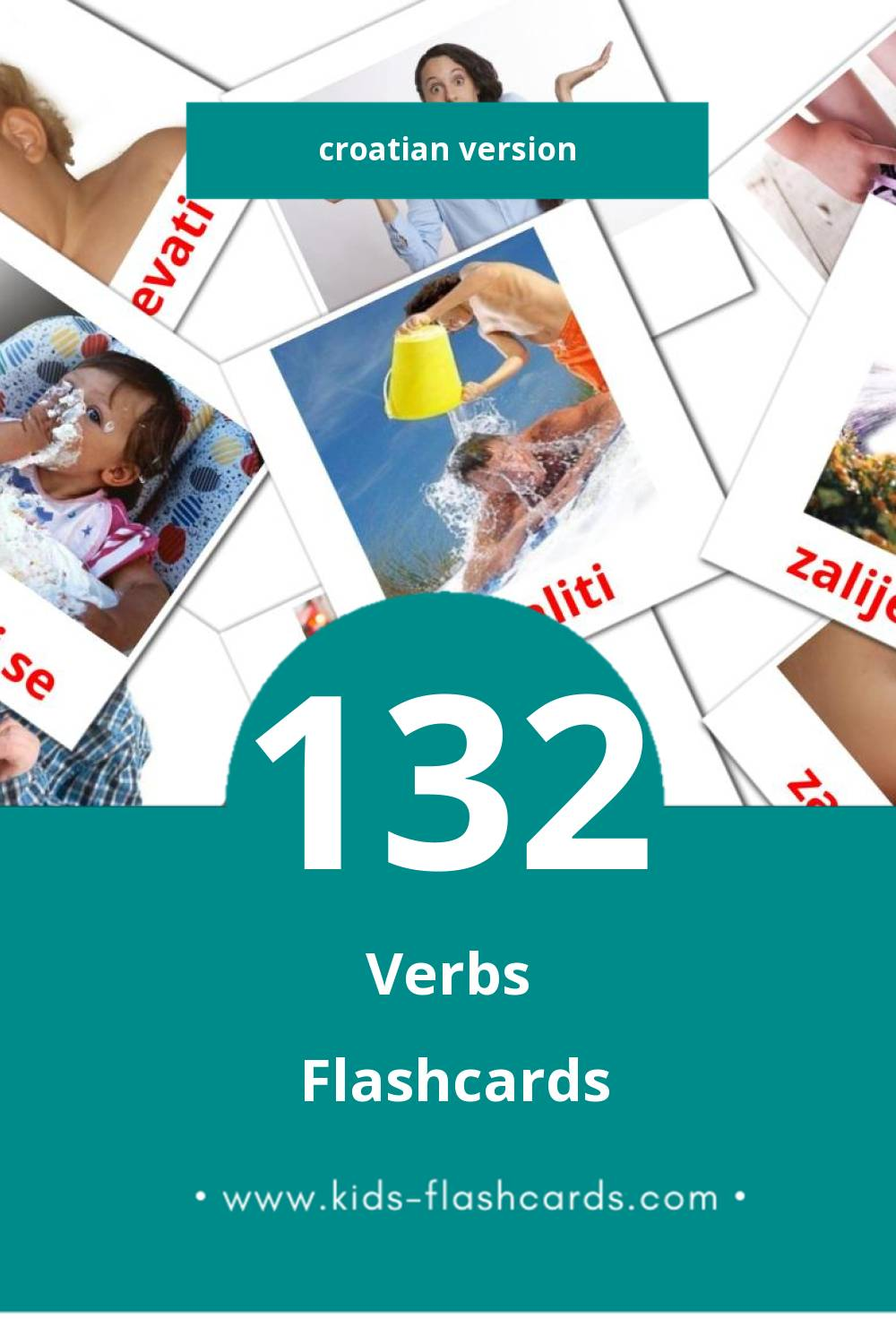 Visual Glagoli Flashcards for Toddlers (133 cards in Croatian)