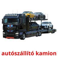autószállító kamion picture flashcards