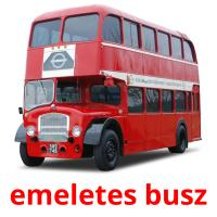 emeletes busz picture flashcards