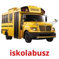 iskolabusz picture flashcards