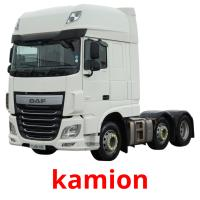 kamion picture flashcards