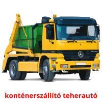 konténerszállító teherautó picture flashcards