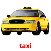taxi picture flashcards