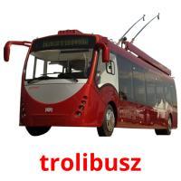 trolibusz picture flashcards