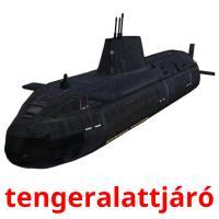 tengeralattjáró picture flashcards