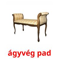 ágyvég pad picture flashcards