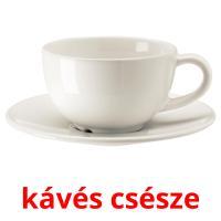kávés csésze picture flashcards