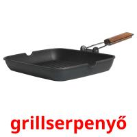 grillserpenyő picture flashcards