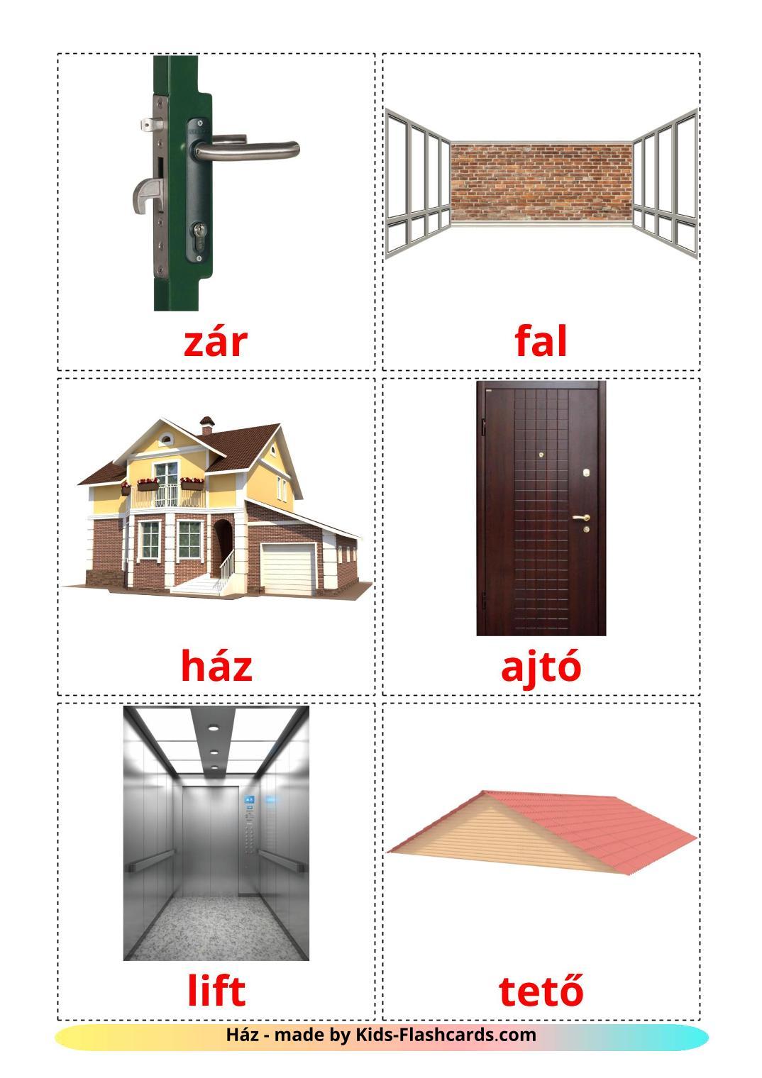 House - 25 Free Printable hungarian Flashcards