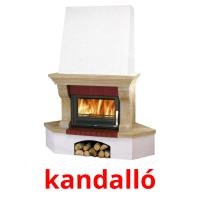 kandalló picture flashcards
