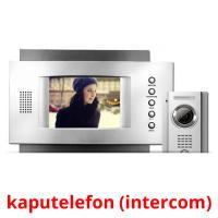 kaputelefon (intercom) picture flashcards