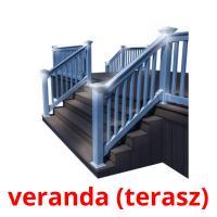 veranda (terasz) picture flashcards