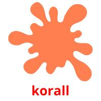 korall picture flashcards
