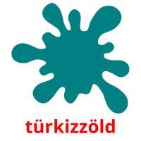 türkizzöld picture flashcards
