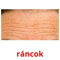 ráncok picture flashcards