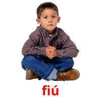 fiú picture flashcards