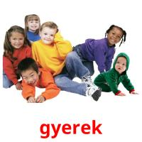 gyerek picture flashcards