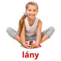 lány picture flashcards