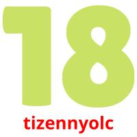 tizennyolc picture flashcards