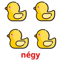 négy picture flashcards