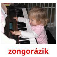 zongorázik picture flashcards