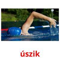 úszik picture flashcards