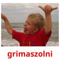 grimaszolni picture flashcards