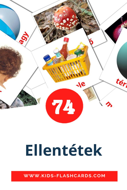 74 Ellentétek Picture Cards for Kindergarden in hungarian